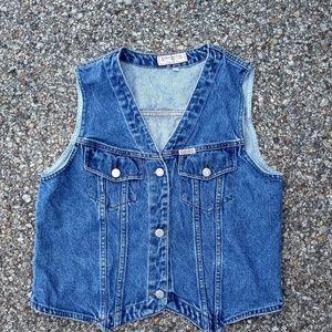 Vintage Guess Denim Vest Made in USA